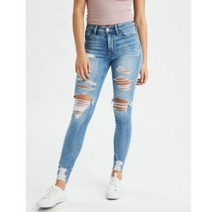 American Eagle Super Ripped Hi Rise Jegging Jeans